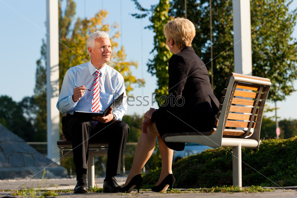 Business Coaching outdoors