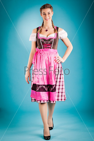 woman in traditional clothes - dirndl or tracht