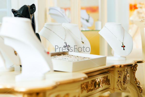 Display at a jeweller