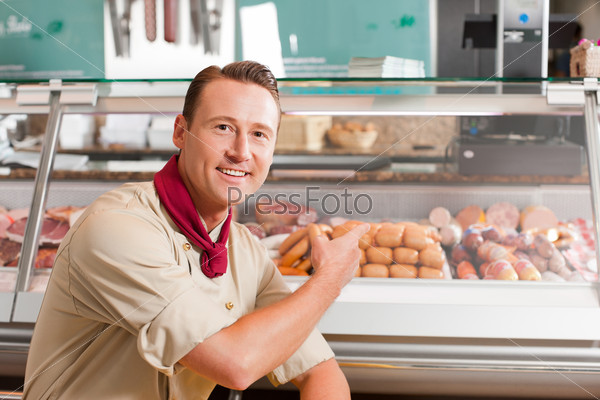 Working in a butchers shop