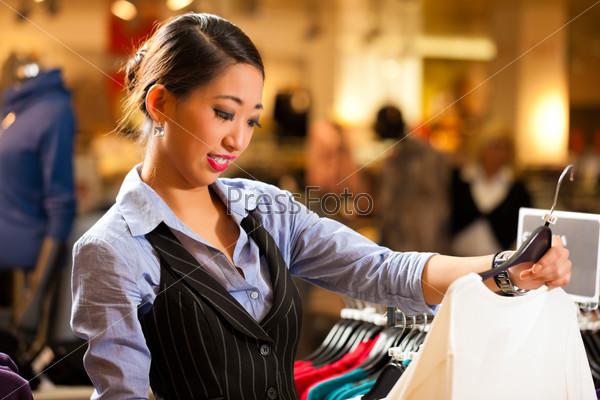 Asian Woman in shopping mall