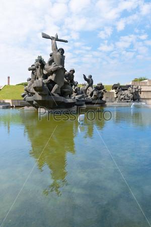 Soviet era World War II memorial in Kiev Ukraine
