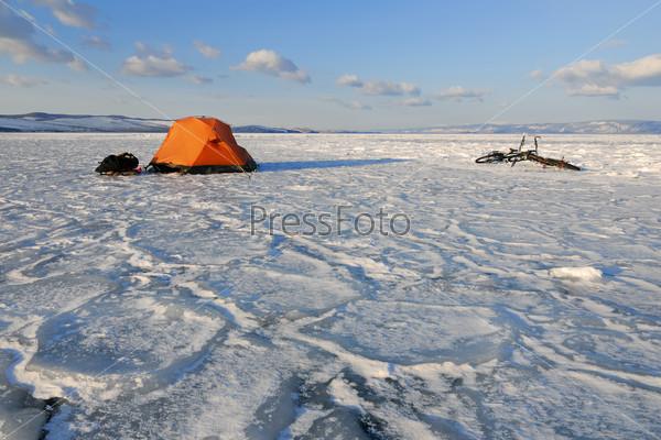 Зимний лагерь туриста-велосипедиста