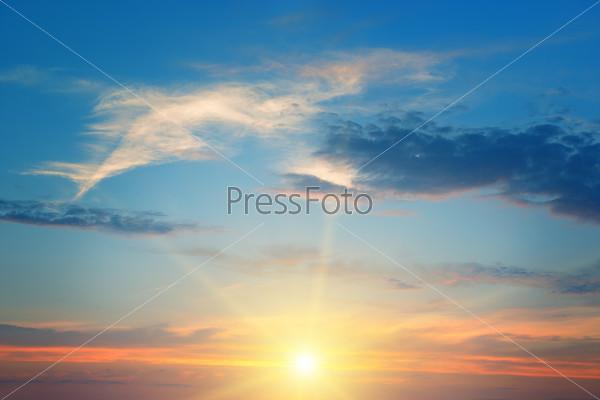 the sun above the horizon