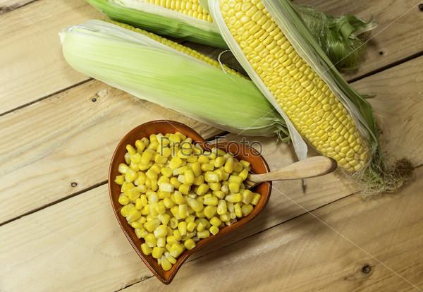 Кукуруза крупным планом