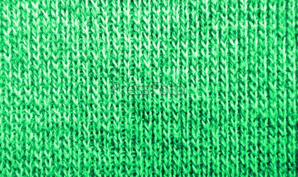 The green knitting yarn