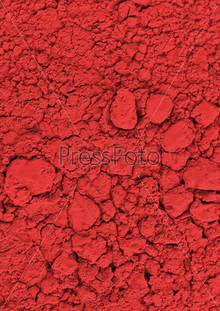 red chemical powder