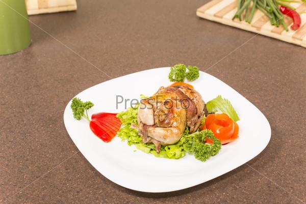 roasted stuffed quail