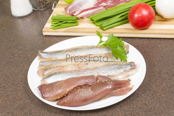 Herring fillet with caviar