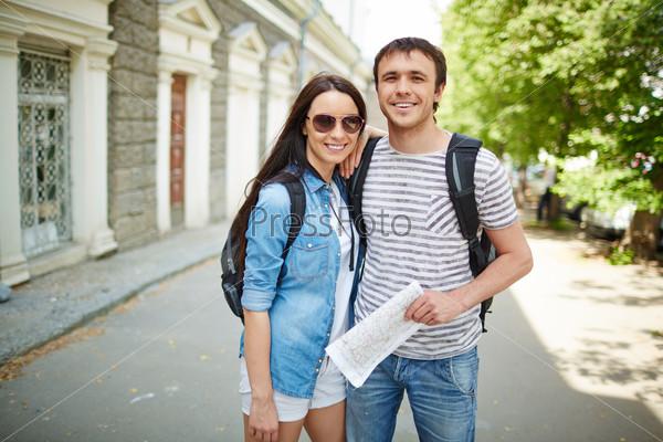 Happy travelers