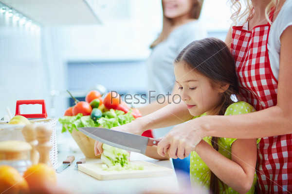 Cooking salad