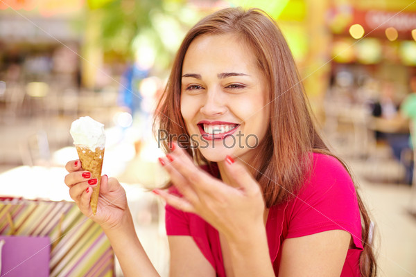 Girl with ice-cream