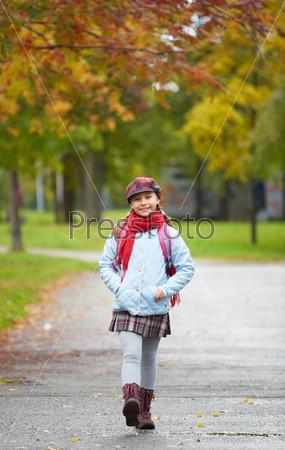 Cheerful schoolchild