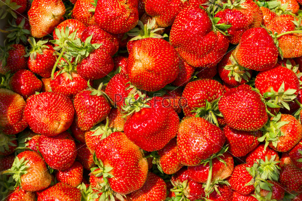 strawberry as background