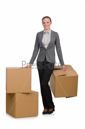 Woman businesswoman isolated on white