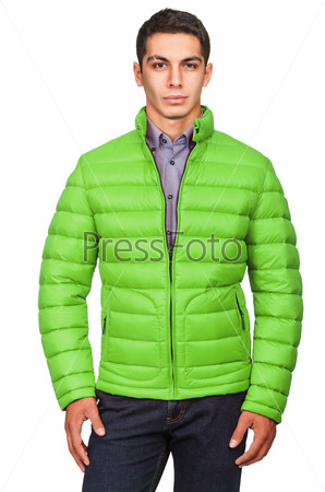 Male coat isolated on the white