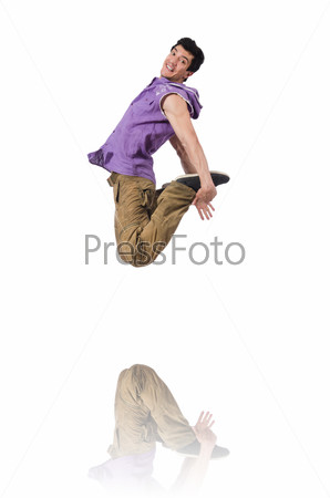 Dancer dancing dances isolated on white