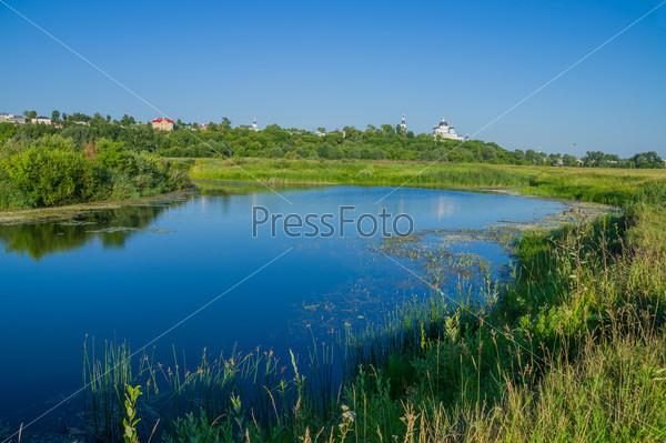 Город Арзамас. Берег реки Теша с видом на Выездновские луга