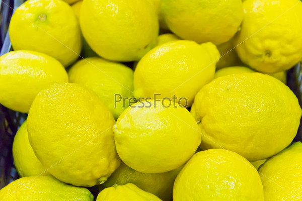Background of yellow lemon