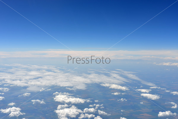 Earth's surface and clouds