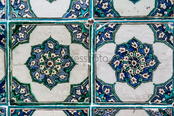 Ottoman Wall Tile from Topkapi Palace