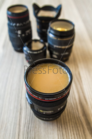 Filtered Coffee in a Lens Body