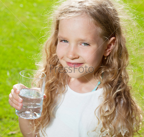 Child drinking water
