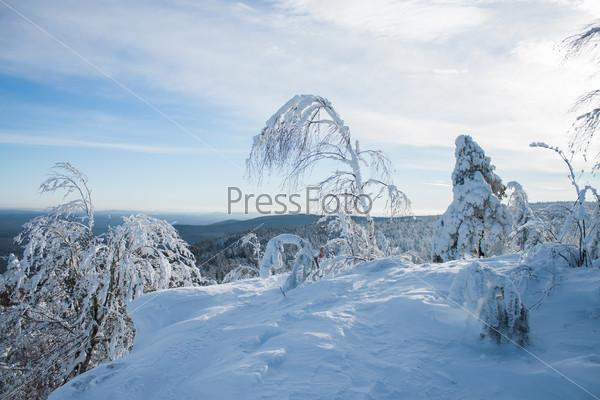 Зимний Уральский пейзаж