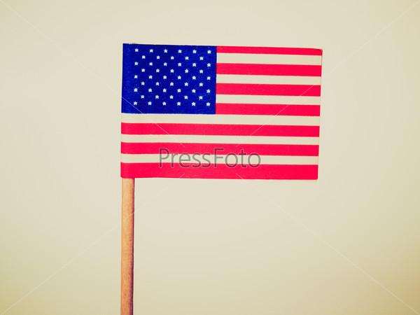 Retro look American flag