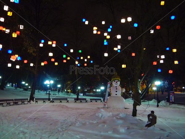 snowman in park, Riga