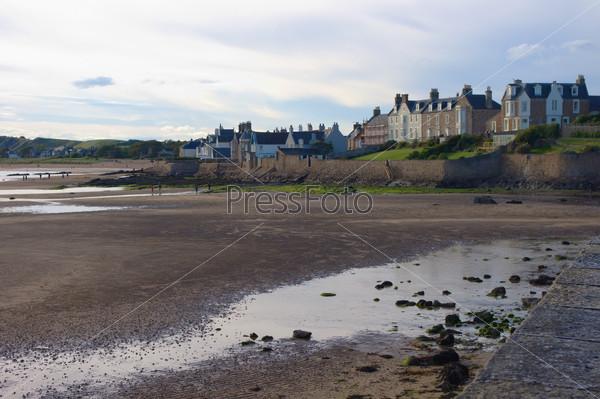Bay in the Scotland, empty beach