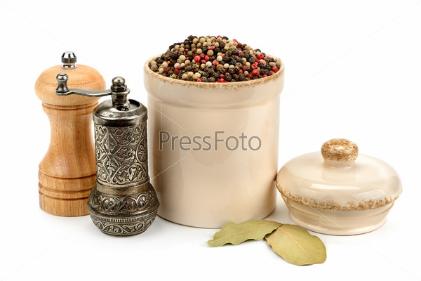 pepper mill isolated on white background