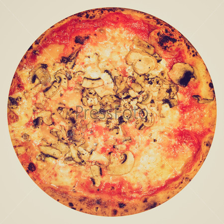 Retro look Mushroom Pizza