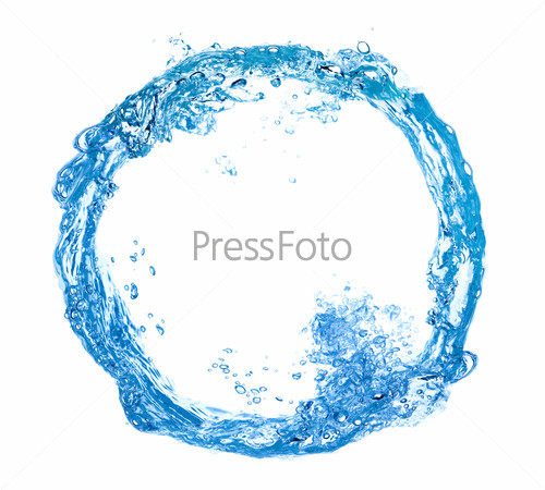 circle made of water splashes