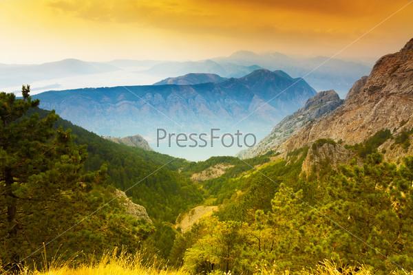 Kotor bay and mountains