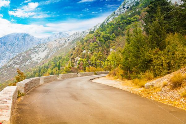 Mountain road near Kotor town