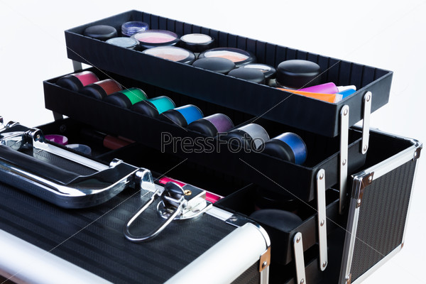 case with makeup tools