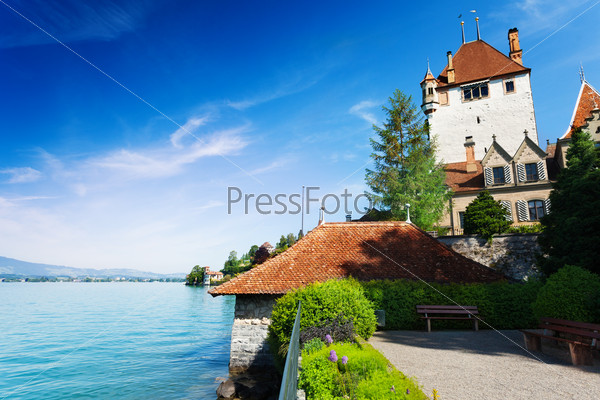 Lake Thun and Oberhofen castle