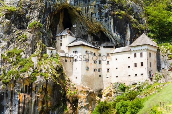 Predjama castle inside the mountain
