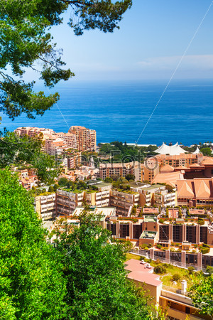 Residential  area of Monaco