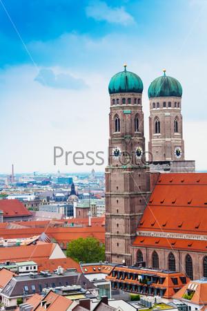 City view of Munich, Frauenkirche, Bavaria, Germany