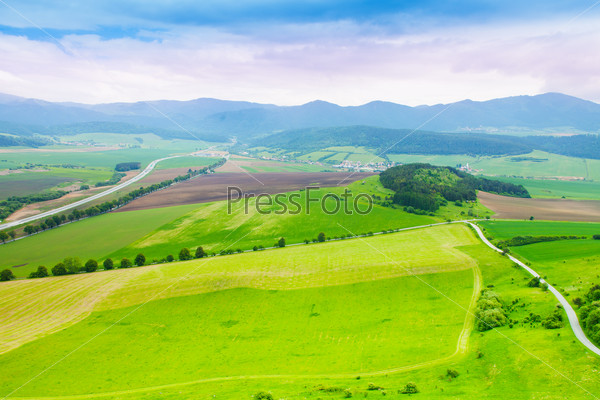 Wheat fields panorama