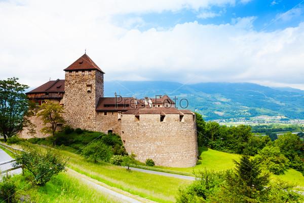 Royal castle in Vaduz, Liechtenstein