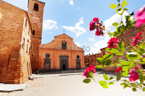 Square and Church of St. Donato. Civita di Bagnoregio
