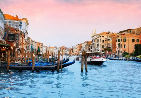 Boats and gondolas in Venice