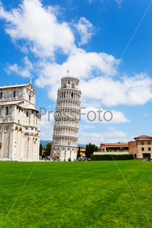 Leaning tower and part of Duomo