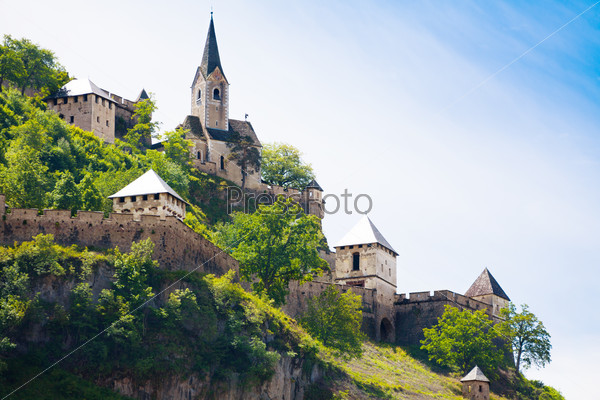 Hochosterwitz castle church and towers