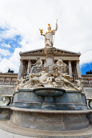 Austrian Parliament fountain monument