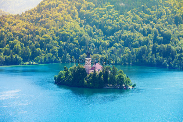 Bled church island