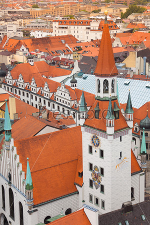 City view of Munich, Old Town Hall, Bavaria, Germany